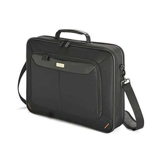 DICOTA Notebook Case Advanced XL Notebooktasche – gepolstertes und abschließbares Notebookfach, schwarz