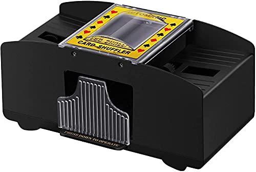 HJGK 6 Juegos De Barajadoras Automáticas, Que Funcionan con Baterías, Muy Adecuadas para La Familia De Casinos Y El Uso De Torneos, Póquer Clásico Y Juegos De Cartas,2 Pay