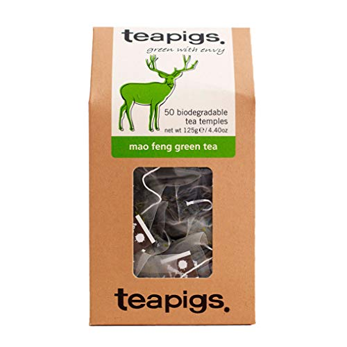 Teapigs Mao Feng Green Tea Bags Made with Whole Leaves (1 Pack of 50 Tea Bags)