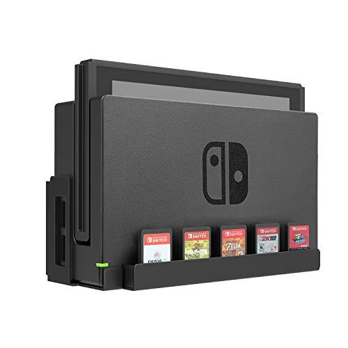 Monzlteck Wandhalterung für Nintendo Switch, Spielkartenhalter, massives Metall