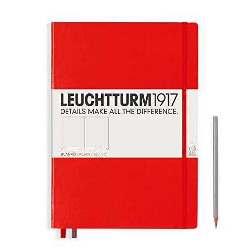 Notatnik Leuchtturm Master Classic gladki czerwony