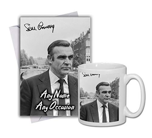 Sean Connery - 007 - James Bond 1 Personalised Card and Mug (Christmas, Birthday, Xmas)