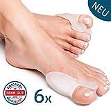6x Tutore Alluce Valgo Correttore Trasparente YogaMedic® - Separatore Dita Piede - Suppor...