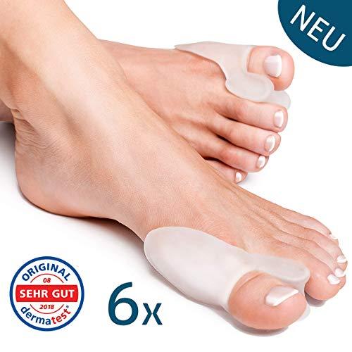 6x Tutore Alluce Valgo Correttore Trasparente YogaMedic® - Separatore Dita Piede - Supporti per i piedi - Raddrizza dita