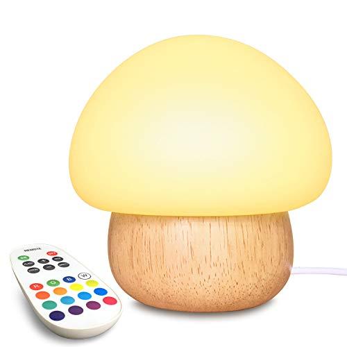 Night Light for Kids, NTMY LED Night Light USB Mushroom Night Lamp with...