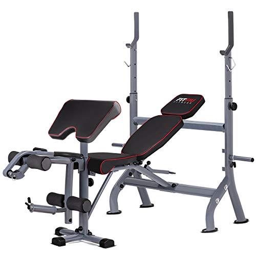 FITFIU Fitness BP-20 -Banco de Musculacion Press de Banca Multifunción entrenamiento pesas, Banco de Ejercicios ajustable en 4 niveles para Abdominales, Pectorales, Espalda, Bíceps, Hombros y Piernas