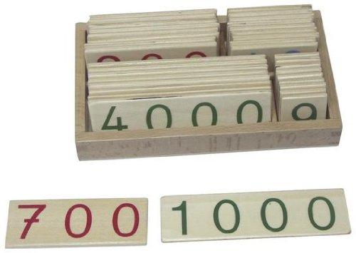 Zahlenkarten 1-9000, klein