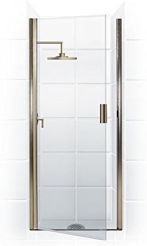 Coastal Shower Doors Pqfr24 66b C Paragon Series Semi Frameless Continuous Hinge Shower Door In Clear Glass 24 X 65 Chrome Amazon Com