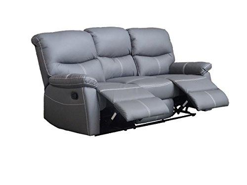 Mobilier Deco - Sofá de 3 plazas, color gris