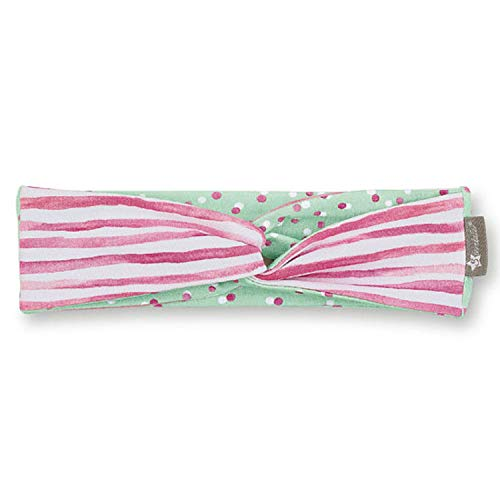 Sterntaler Sterntaler - Mädchen Stirnband zum Wenden, Punkte- / Streifenmotiv, rosa/mint - 1801907-orchi, Größe 45