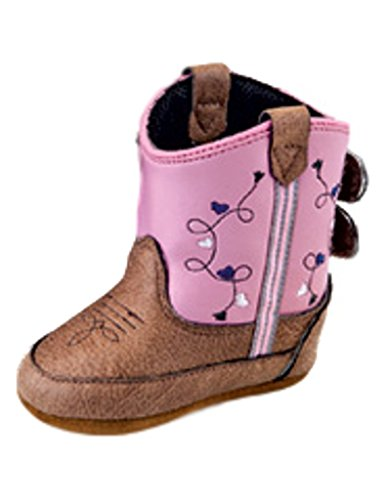 MAMTAKON Real Leather Soft Sole Cowboy Boots for Baby Infant Toddler Boys Girls Newborn Crib Prewalkers Or Special Occasion (6-12 Months) Brown