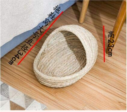 Willlly Strohhaus Maison pour hérisson pour animal domestique Lit chaud Hivernal Hamster Totoro Lapin Winterquartier (couleur : A, taille : L)