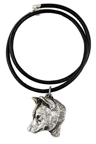 Shiba Inu, Silber beschichtet Halskette, Limitierte Edition, Art Dog