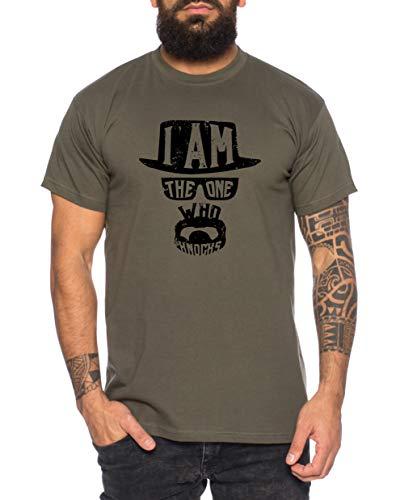 Knocks Herren T-Shirt Breaking Bad Call TV Serie, Größe:L, Farbe:Khaki