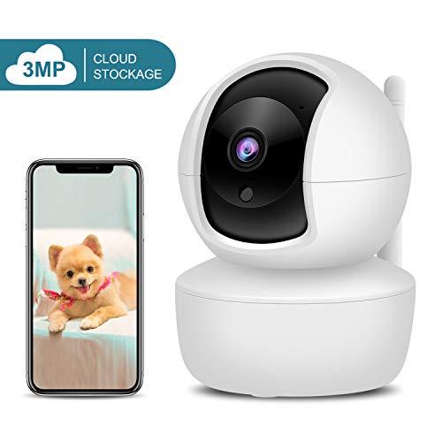 XYFANG 1536P FHD WLAN IP Kamera,Indoor Wireless Überwachungskamera mit Nachtsicht Bewegungserkennung,Zwei-Wege-Audio,Fernalarm und Mobile App Kontrolle,Für Baby/Ältere/Haustiere