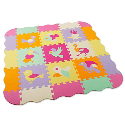 Why Choose GFQTTY Puzzle Play Mat, Colorful Kids Interlocking Foam Mats, Crawling Mat with 9 Differe...