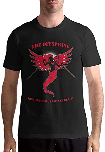 The Offspring T Shirt Man'S Tops Short Sleeve Pattern Cotton tee,Black,Large