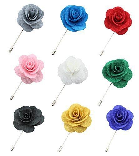 SAVORI 6 Unidades Broche De Solapa Hechos A Manos Floral Boutonniere Para Traje Hombre (9 pack)
