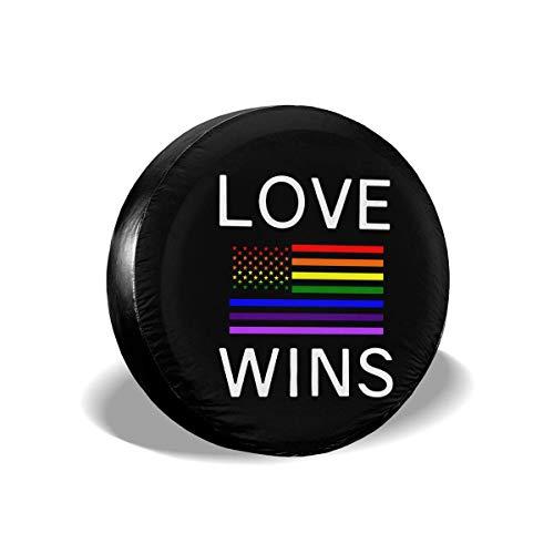 Enoqunt Lesbian Pride Shirts Homosexuell reservebandenafdekking geschikt voor Jeap RV Trailer en vele voertuigen