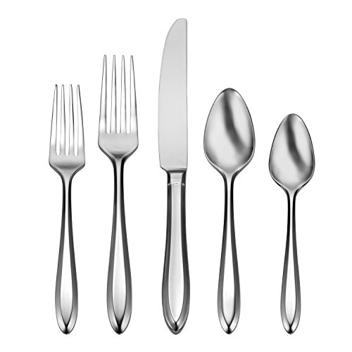 Oneida Patrician 45 Piece Fine Flatware Set, 18/10 Stainless, Service for 8