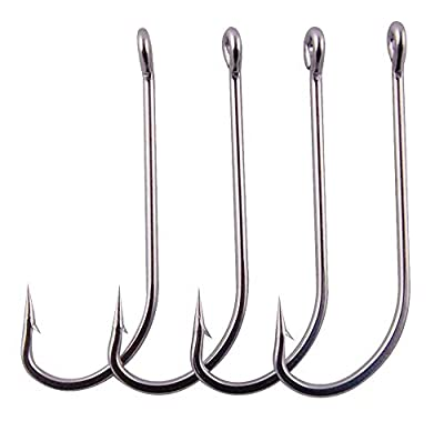 Stainless Steel Saltwater Fishing Hooks-50pcs/lot 34007 Extra Strong O'shaughnessy Forged Long Shank Fishing Hooks by Shaddock Fishing