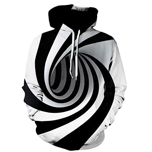 manadlian Sweats à Capuche Pullover Homme Sweat-Shirt Unisexe Sweat à Capuche Imprimé 3D Manteau à Manches Longues Slim Fit Pull Automne Outwear Grande Taille