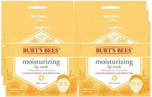 Burt's Bees 100% Natural Moisturizing Lip Mask, Single Use Conditioning Lip Care , 6 Count