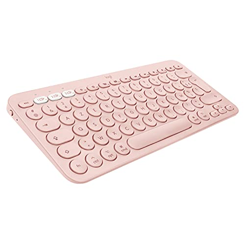 Logitech K380 Clavier Bluetooth Multidispositif pour Mac, Clavier Anglais QWERTY - Rose