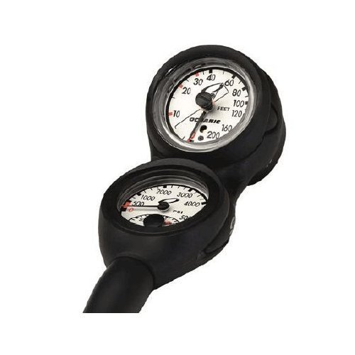Oceanic New Max Depth Swiv Combo with Pressure Gauge & Depth Gague (PSI)