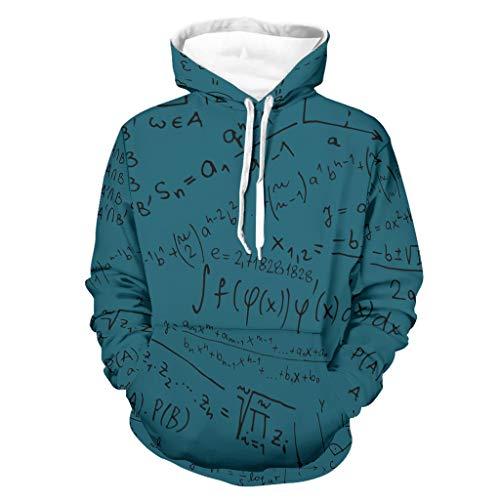 Lind88 Herren Lustige Mathematik Formel Quadrant Sweatshirts Personalisieren - Lustige Wissenschaft mit Fronttasche Trainingsjacke S weiß