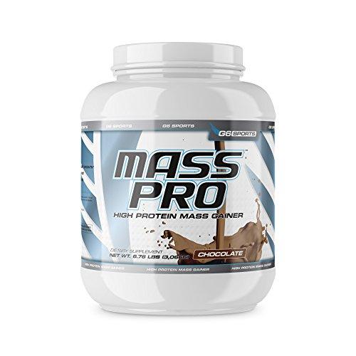 G6 Sports Nutrition Mass Pro High Protein Mass Gainer (64g Protein, Avocado Powder, Coconut Oil Powder, MCT Oil Powder) – 6.76lb Jar – Chocolate
