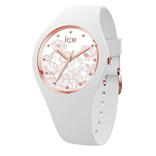 Ice-Watch - ICE flower Spring white - Weiße Damenuhr mit Silikonarmband - 016662 (Small)