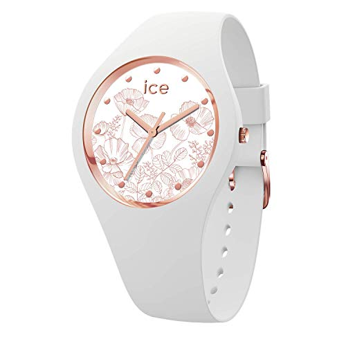 Ice-Watch – ICE flower Spring white – Women's wristwatch with silicon strap – 016662 (Small)