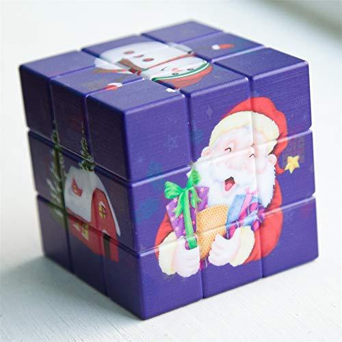 SYLL Rubik Cube de Tercer Orden Niños 3x3x3 Velocidad Impresión cúbica UV 2 Estilos Juguetes de descompresión Opcionales,B
