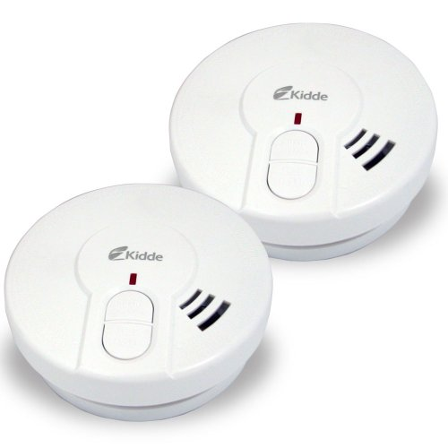 Kidde 0946 compact smoke alarm with built in hush button, 2-pack