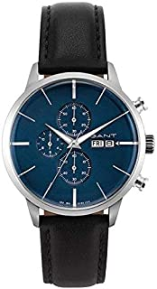 Gant Asheville Men's Blue Dial Leather Band Watch - G Gww063001, Analog Display, Miyota Os00 Movement