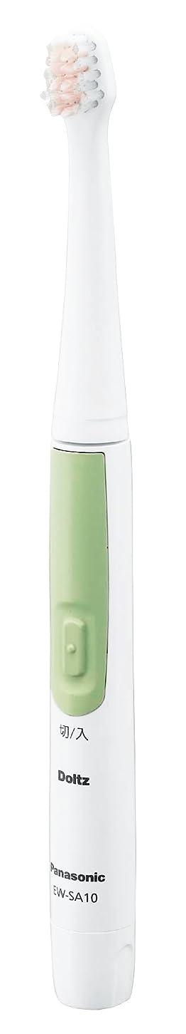 通貨面積線形Panasonic ドルツスリム 音波振動ハブラシ グリーン EW-SA10-G