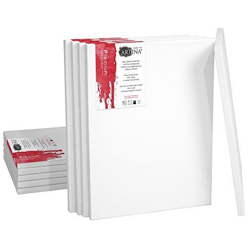 Artina Set de 5 lienzos Blancos Premium | Haga CLIC para elegir TAMAÑOS