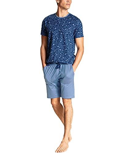 CALIDA Herren Casual Cotton kurz Pyjamaset, Bay Blue, 52-54