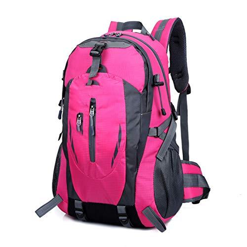 Yi-xir Mochila de diseño de moda para hombre y mujer, bolsa de deporte para viajes al aire libre, mochilas impermeables ligeras y duraderas (color: rosa, tamaño: A)