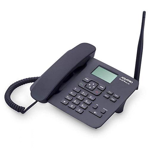 Celular de Mesa Quadriband Dual Sim, Aquario CA-42S, Preto, Pequeno, Pacote
