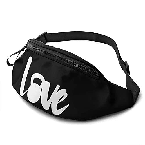Love Kettle Bell Sports Riñonera Informal con Cremallera Ajustable Bolsas Deportivas con Mochila para Caminar en el Pecho Bolso de Hombro