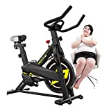 YANGSANJIN 2020 Indoor Exercise Bike, Home Silent Sports Bicycle Indoor Sports Scooter Aerobic Exercise Equipment, Used for Home Fitness Weig(sports)