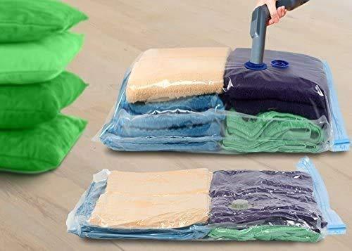 KEPLIN® Bolsas de almacenamiento al vacío, paquete de 6 unidades, 80 x 100 cm (80% más de compresión), bolsas selladoras para ropa, edredón, ropa de cama, almohadas, mantas, cortinas