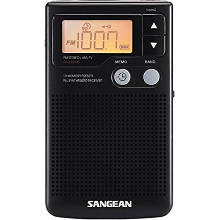 Sangean DT-200X FM-Stereo/AM Digital Tuning Pocket Radio Black