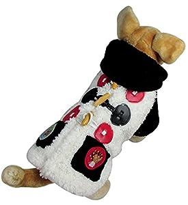 Pet vêtements pour chien chat double boutonnage–Petit Ours Polaire Pull d'hiver en velours à capuche Veste Manteau pour Petit Chien Manteau XS S M L XL