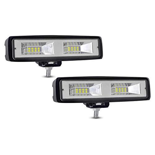 Focos LED de Trabaj, YEEGO Foco Led Faro Luz 36W Ámbar Blanco, Todoterreno Camion, Luces Antiniebla Impermeable y Potente para Coche, Quad,Moto,Tractor,4x4