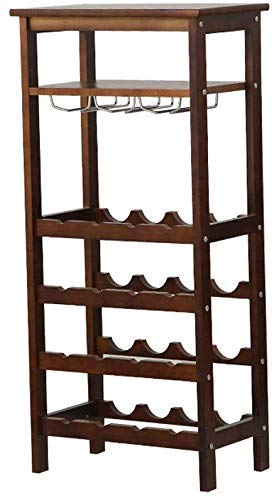 DJY-JY Hou Estante de vino de madera maciza moderna para el hogar creativo del gabinete del vino del vino del sostenedor