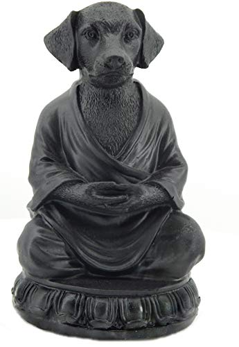 Bellaa 29608 Dog Statue Zen Buddha Yoga Pose Meditation 6 Inch