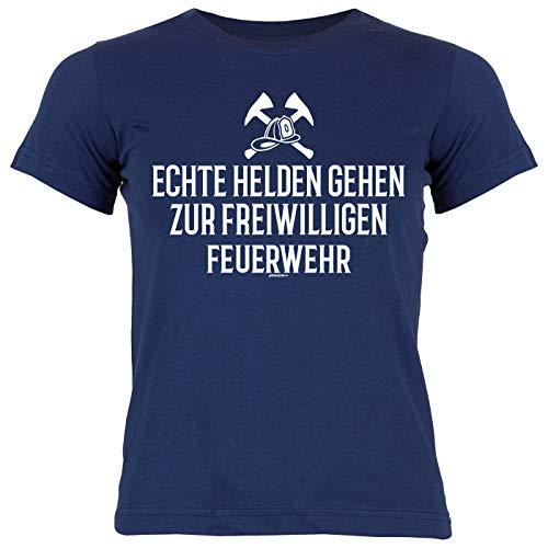 Shirt/Mädchen-Kinder Bekleidung Thema Beruf/Feuerwehr: Echte Helden gehen zur Freiwilligen Feuerwehr
